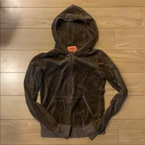 Juicy Couture velour zip up jacket